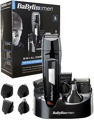 Brand New BaByliss for Men 8-in-1 All Over Hair Grooming  Kit  BA-7056CU