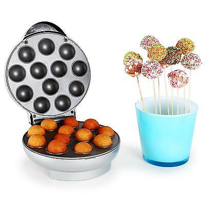 Machine A Pop Cake 1300W 12 Gateaux Gouters Fetes Cupcake Muffins Argent Neuf