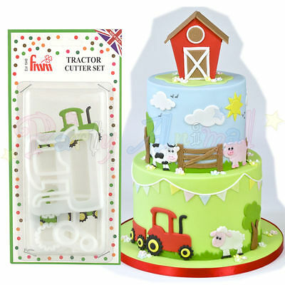 FMM Sugarcraft - Tractor Cutter Set - Cake decoration sugarpaste fondat cutters