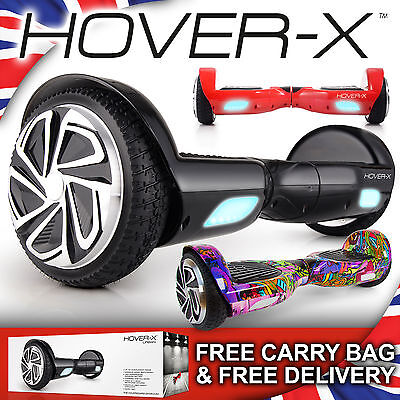 HOVER-X Hoverboard 2 Wheel Self Balancing Electric Scooter Board – UK Warranty
