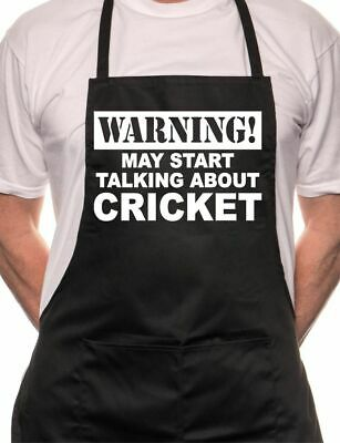 May Start Talking About Cricket BBQ Cooking Funny Novelty Apron