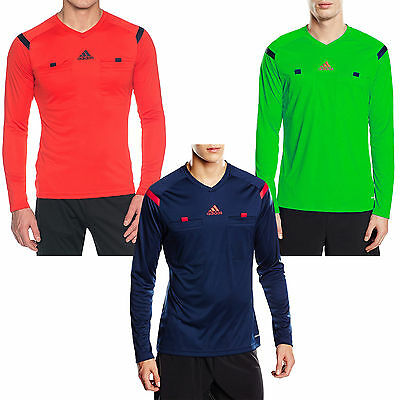 adidas Performance Mens Long Sleeve Slim Fit Football Referee 14 Jersey Shirt