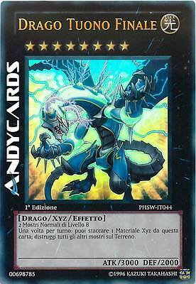 1a Ed. ☻ Drago Tuono Finale ☻ Ultra Rara ☻ PHSW IT044 ☻ YUGIOH ANDYCARDS