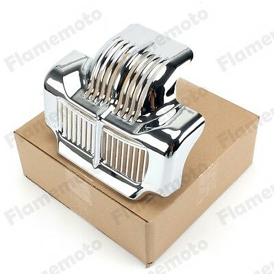 Chrome Stock Oil Cooler Cover For Harley Touring Road King Electra Street Glide