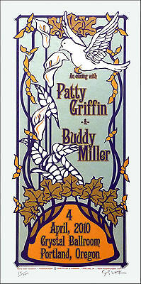 Patty Griffin & Buddy Miller Poster Original Signed Silkscreen by Gary Houston