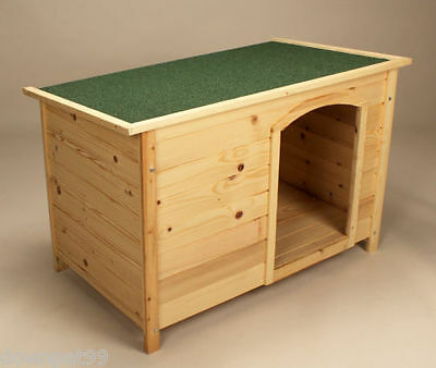 Wooden Dog Kennel House Weather Proof Shelter Outdoor Patio Small Medium NEW