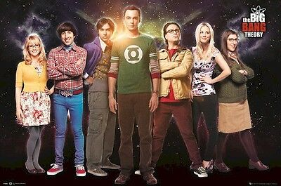 THE BIG BANG THEORY ~ SPACE CAST 24x36 TV POSTER NEW/ROLLED!