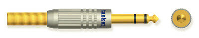 Tasker SP 58 Professional metal Jack 6,35 mm stere plug, gold plated contacts