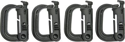 Maxpedition BLACK 4-Pack Grimloc D-Rings Carabiner  Made in USA
