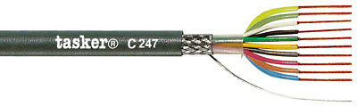 Tasker C247 Braided shielded LiYCY cable 10x0,14 mm² 100 m