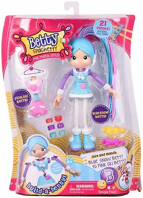 Betty Spaghetty Deluxe Mix N Match Doll - Blue Snow to Pink Ski Betty