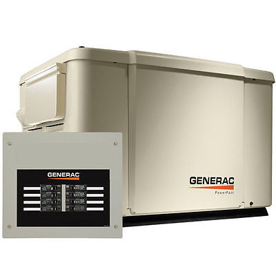 Generac PowerPact™ 7.5kW Home Standby Generator System (50-Amp 8-Circui...