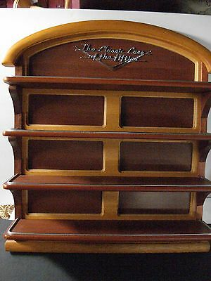 Franklin Mint Classic Cars of the 50's Wood Wooden Display Shelf Mint Condition
