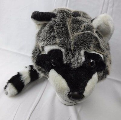 Jaag Plush Raccoon Halloween Cap Hat With Tail