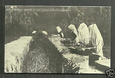 Guam native Washer Women Spanish Baths Micronesia 1910