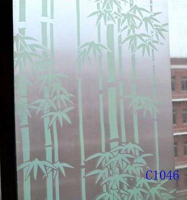 92cm x5m Bamboo Privacy Frosted Frosting Removable Glass Window Film c1046