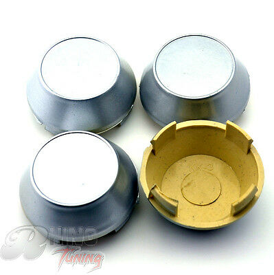 New 60mm Car Wheel Center Hub Caps 4pcs Base Holder Sliver