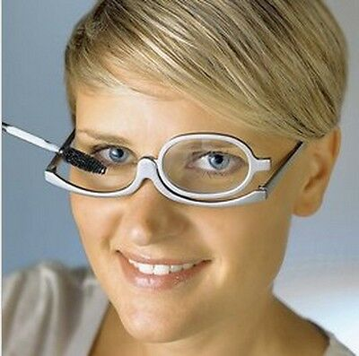 Women Makeup Magnifying Reading Glasses Flip Make Up Eye Glasses