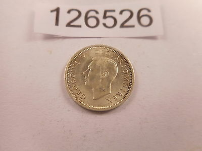 1941 Great Britain Three Pence - Very Nice High Grade Collector Coin - # 126526
