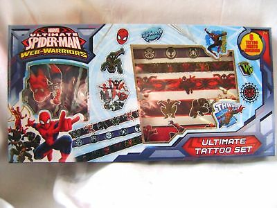 New Spiderman Ultimate Tattoo Set 6 Sheets Temporary Tattoos Spider Man 0335 S