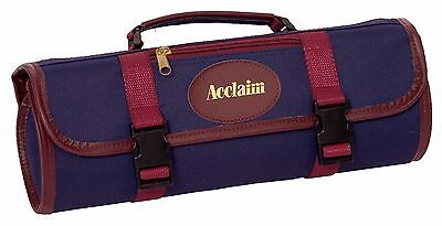 ACCLAIM Stanhope 3 Bowls Bowling Bag Navy Blue Burgundy Trim Marked Style A