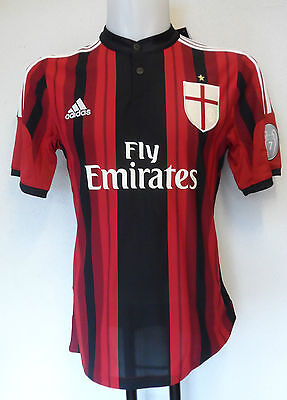 Ac Milan 2014/15 Ucl Home Shirt By Adidas Adults Size  Medium Brand New