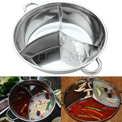 3 Taste Hot Pot 2 Sizes Cookware Shabu Induction Compatible Stainless Steel Home