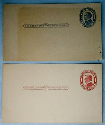 47. U.S. Scott UX 22 & UX24 Postal Cards, un-posted and not pre-printed