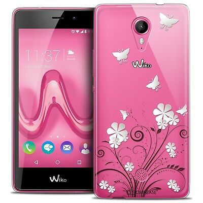 Coque Crystal Gel Wiko Tommy Extra Fine Souple Summer Papillons