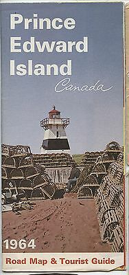 Old 1964 PEI Prince Edward Island Road Map & Tourist Guide