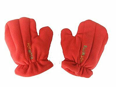 Microwave Hand Warmers Gloves - Unscented Pair of Hot Mitts red medium