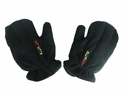 Microwave Hand Warmers Gloves - Unscented Pair of Hot Mitts Black Large for men