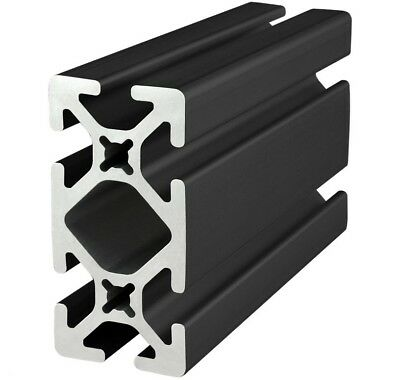 "8020 Inc T-Slot 15 Series 1.5 x 3 Aluminum Extrusion 1530-S-BLACK x 96.5"" Long N"