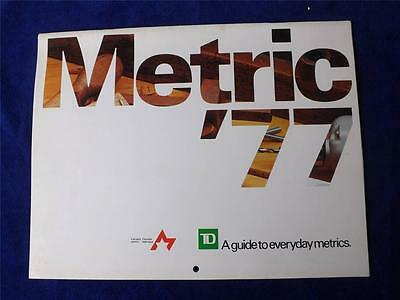 Calendar Vintage 1977 Canada Metric Guide Toronto Dominion Bank Advertising