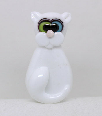 Made to order Margo lampwork beads white cat