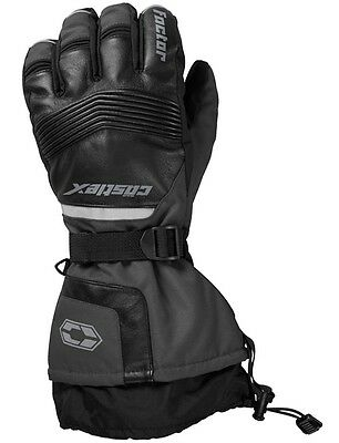 Castle X Factor Gloves Leather Dark Gray Mens sizes S-3XL snowmobile glove
