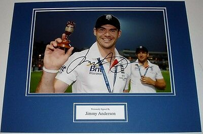 James Anderson England Ashes Cricket Personally Signed Autograph Photo Mount