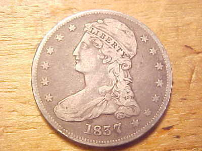 1837 P Capped Bust Half Dollar - Vf/Xf - See Pics! - (N3540)