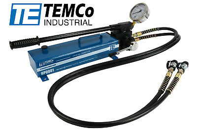 TEMCo Manual Hand Hydraulic Pump 2 Stage, Double Acting 10k psi 183 IN3 Capacity