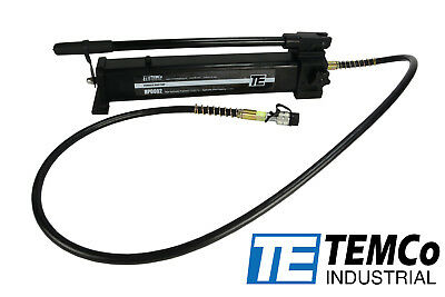 TEMCo Manual Hand Hydraulic Power Pack Pump 2 Stage 10,000 PSI 122 in3 Capacity