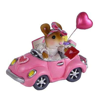 HONK FOR VALENTINE'S DAY! by Wee Forest Folk, WFF# M-454f, Mouse Car