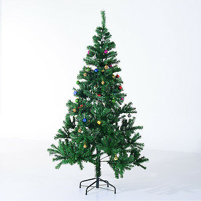 BIG SIZE 6' Decorated Christmas Tree Winter Holiday Seasonal Indoor Outdoor Gn