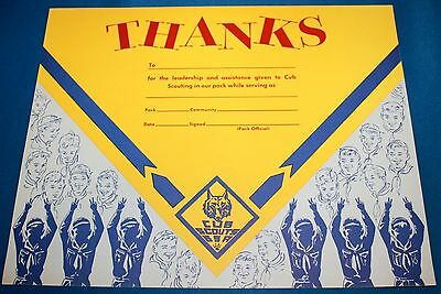 "Boy Scouts Of America Cardboard ""Thanks"" Poster"