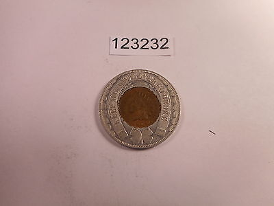 Red/BR 1904 Indian Head Cent Housed 1904 St Louis World's Fair Token -  # 123232