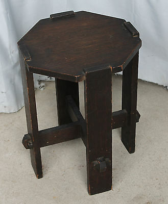 Mission Oak Plant Stand Arts and Crafts Style - Shorter Pedestal