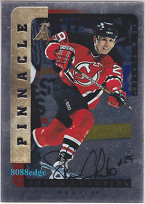 1996-97 Pinnacle Be A Player Auto Silver: Shawn Chambers #75 Autograph Devils
