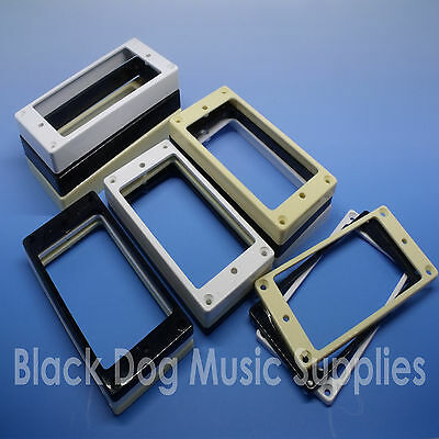 Guitar Flat bottom humbucker pickup surround rings choice of height and colour