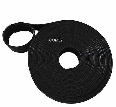 VELCRO® Brand ONE-WRAP® back to back Strapping cable ties 1CM Wide in BLACK