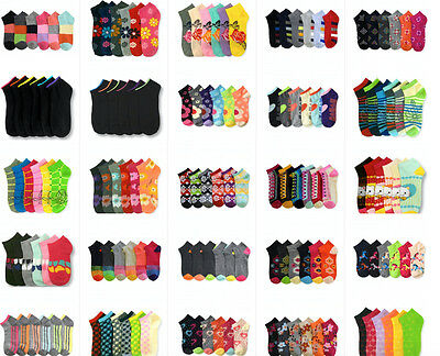 Wholesale Lot Women's Girl Mixed Assorted Designs Ankle No show Low Cut Socks