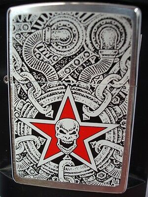 Barrett Smythe Skull Industria Motorcycle Engine 2004 Zippo Lighter New Rare
